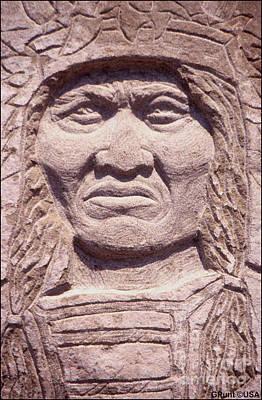 Chief Keokuk Sculpture - Chief-kicking-bird by Gordon Punt