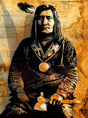 Painting - Chief Little Shell by Paul Sachtleben