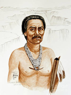 Painting - Chief Manuelito - Navajo 1800's by Art By - Ti   Tolpo Bader