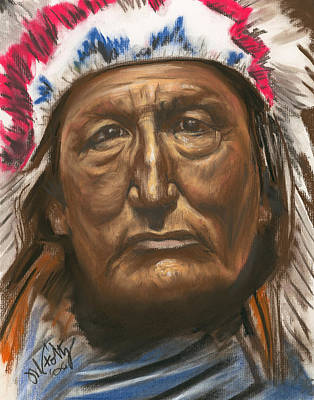 Painting - Chief  by Michael Foltz