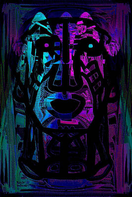 Indian Tribal Art Mixed Media - Chief by Natalie Holland