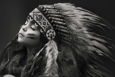 Native American Wall Art - Photograph - Chief Of Her Dreams by Carmit Rozenzvig