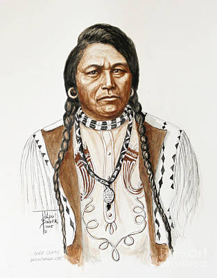 Painting - Chief Ouray by Art By - Ti   Tolpo Bader