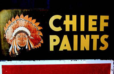 Chief Paints Sign Art Print
