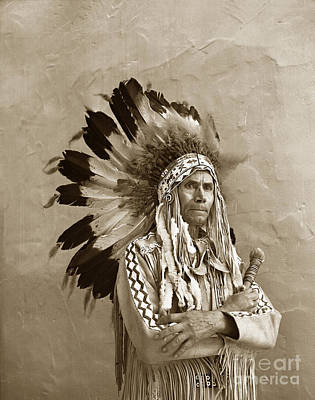 Photograph - Chief Red Eagle Carmel California Circa 1940 by California Views Mr Pat Hathaway Archives
