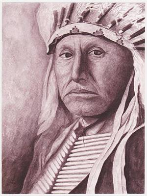 Painting - Chief Red Tomahawk by Billie Bowles