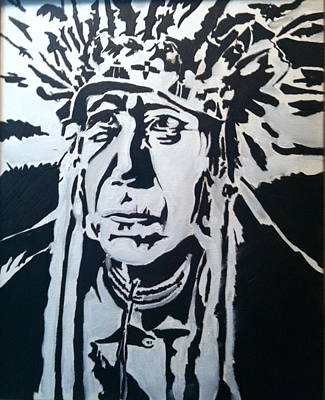 Monotone Painting - Chief by Hogan Willis