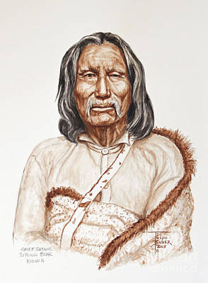Painting - Chief Satnak - Kiowa by Art By - Ti   Tolpo Bader
