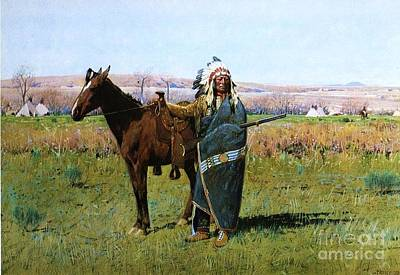 Chief Spotted Tail Art Print by Pg Reproductions