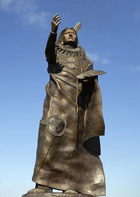 Photograph - Chief Standing Bear Statue Oklahoma by Ann Powell