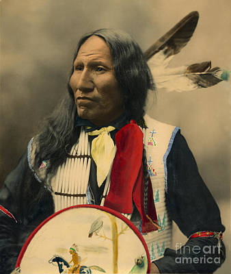 Photograph - Chief Strikes With Nose 1899 by Heyn