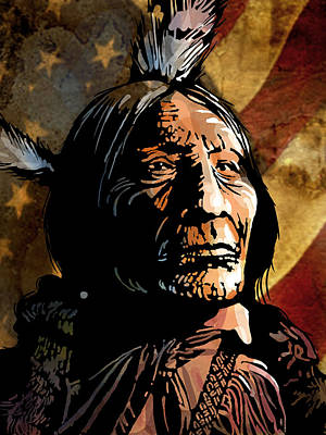 Painting - Chief Wolf Robe by Paul Sachtleben