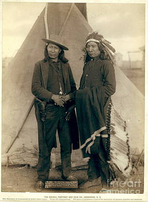 Chief Red Cloud Photograph - Chiefs American Horse And Red Cloud by Celestial Images