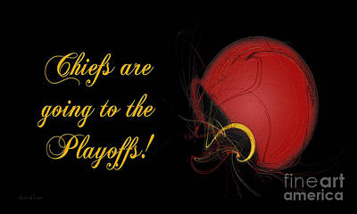 Digital Art - Chiefs Are Going To The Playoffs by Andee Design