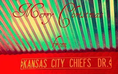 Chiefs Christmas Art Print by Chris Berry