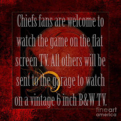 Digital Art - Chiefs Fans Welcome by Andee Design