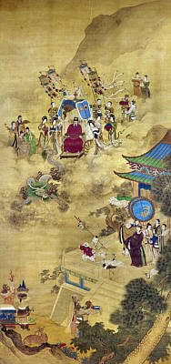 Ching Dynasty Painting - Ch'ien Lung & Ambassadors by Granger