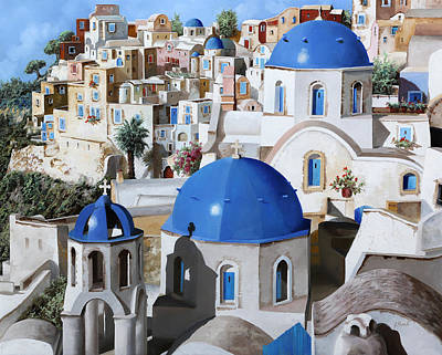 Santorini Painting - Chiese Ortodosse by Guido Borelli