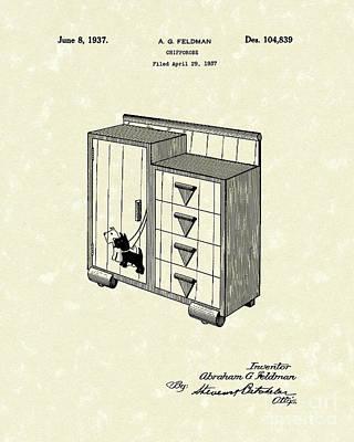 Chifforobe 1937 Patent Art Art Print by Prior Art Design