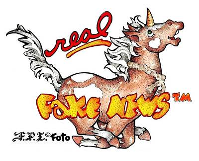 Drawing - Real Fake News Fpi Foto by Dawn Sperry
