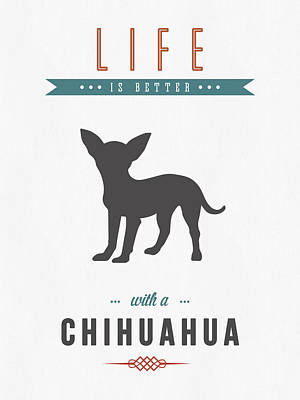 Canines Digital Art - Chihuahua 01 by Aged Pixel