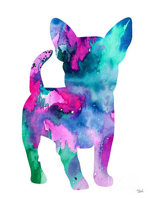 Chihuahua 6 Art Print by Watercolor Girl