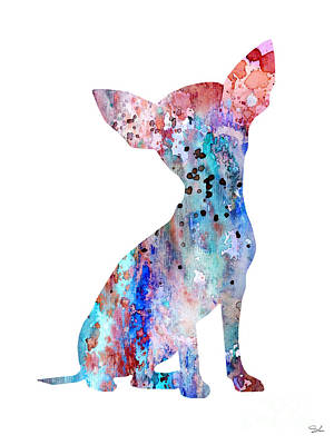 Chihuahua 8 Art Print by Watercolor Girl