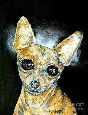 Painting - Chihuahua Angel by Jay  Schmetz