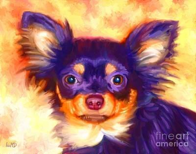 Buy Dog Art Digital Art - Chihuahua Art by Iain McDonald