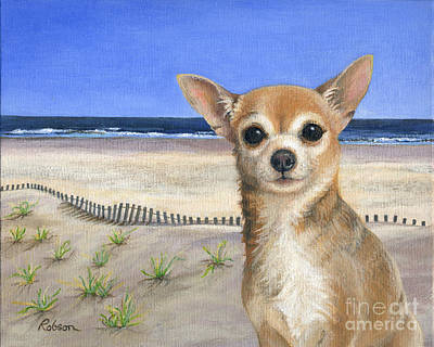 Painting - Chihuahua At Sea Isle City New Jersey by Peggy Dreher