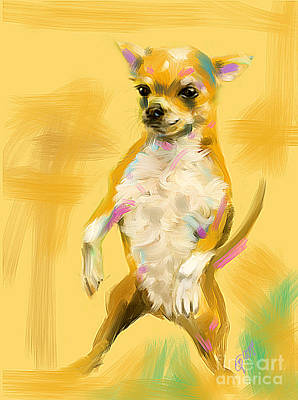 Chihuahua Digital Art - Chihuahua Cookie by Go Van Kampen