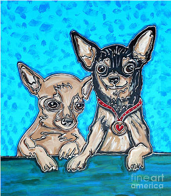 Painting - Chihuahua Duo by Cynthia Snyder