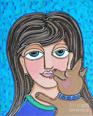 Painting - Chihuahua Kisses by Cynthia Snyder