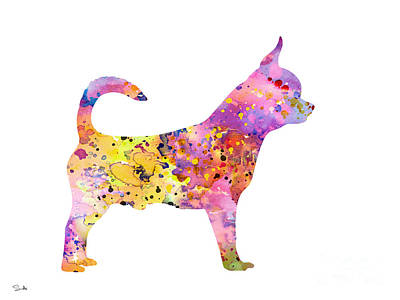 Painting - Chihuahua by Watercolor Girl