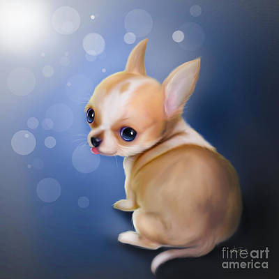Painting - Chihuahua Pup by Catia Lee