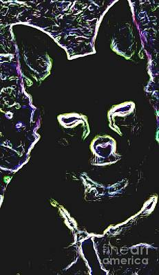 Buy Dog Art Digital Art - Chihuahua Silhouette With Color by Gail Matthews