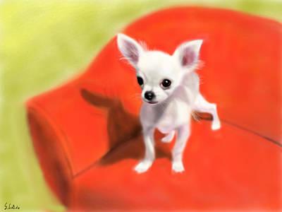 Painting - Chihuahua by Yoshiyuki Uchida