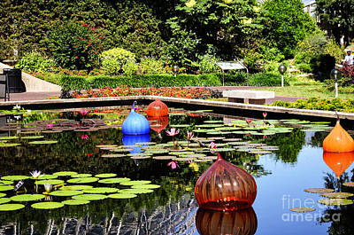 Photograph - Chihuly Ball Lily Pond by Luther Fine Art
