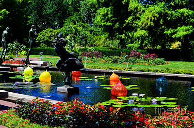 Photograph - Chihuly Glass Balls In Missouri Botanical Garden by Luther Fine Art