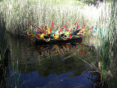 Chihuly Glass In Boat Art Print by Jack Edson Adams