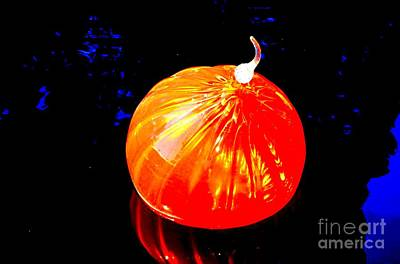 Blown Glass Photograph - Chihuly Orange Blown Glass by Luther Fine Art