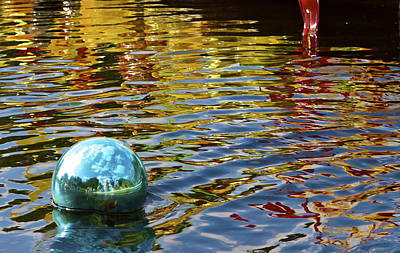 Art Print featuring the photograph Chihuly Reflection I by John Babis