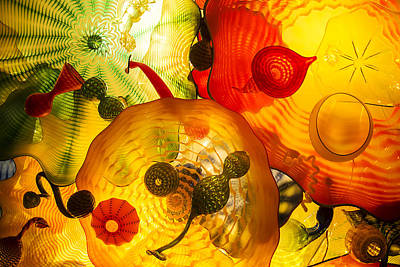 Photograph - Chihuly's Persian Ceiling by Lee Kirchhevel