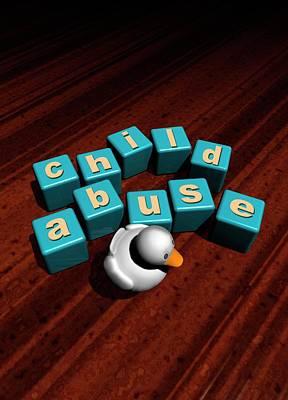 Child Abuse Art Print