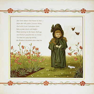 Child Among Flowers Art Print by British Library