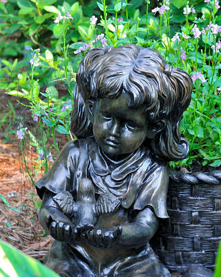 Photograph - Child And Dove by Ginger Wakem