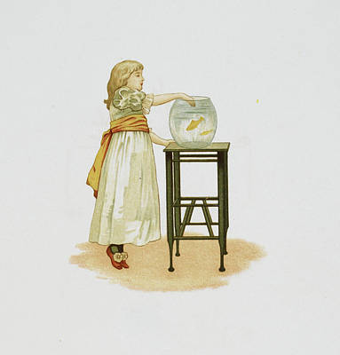 Fish Bowl Photograph - Child And Goldfish Bowl by British Library