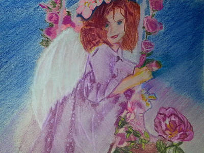 Disabled Mixed Media - Child Angel by Laurietta Oakleaf