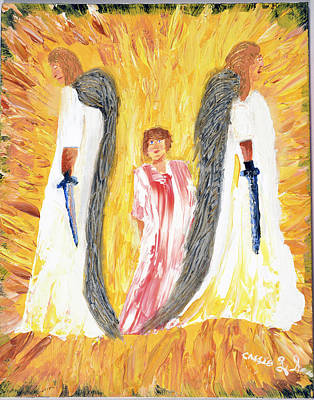 Child Being Escorted Into Heaven Art Print