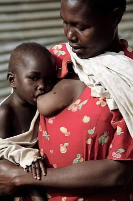 Child Breastfeeding Art Print